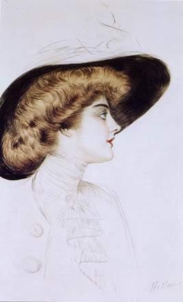 PaulCésar Helleu's Buste de femme au chapeau de profil