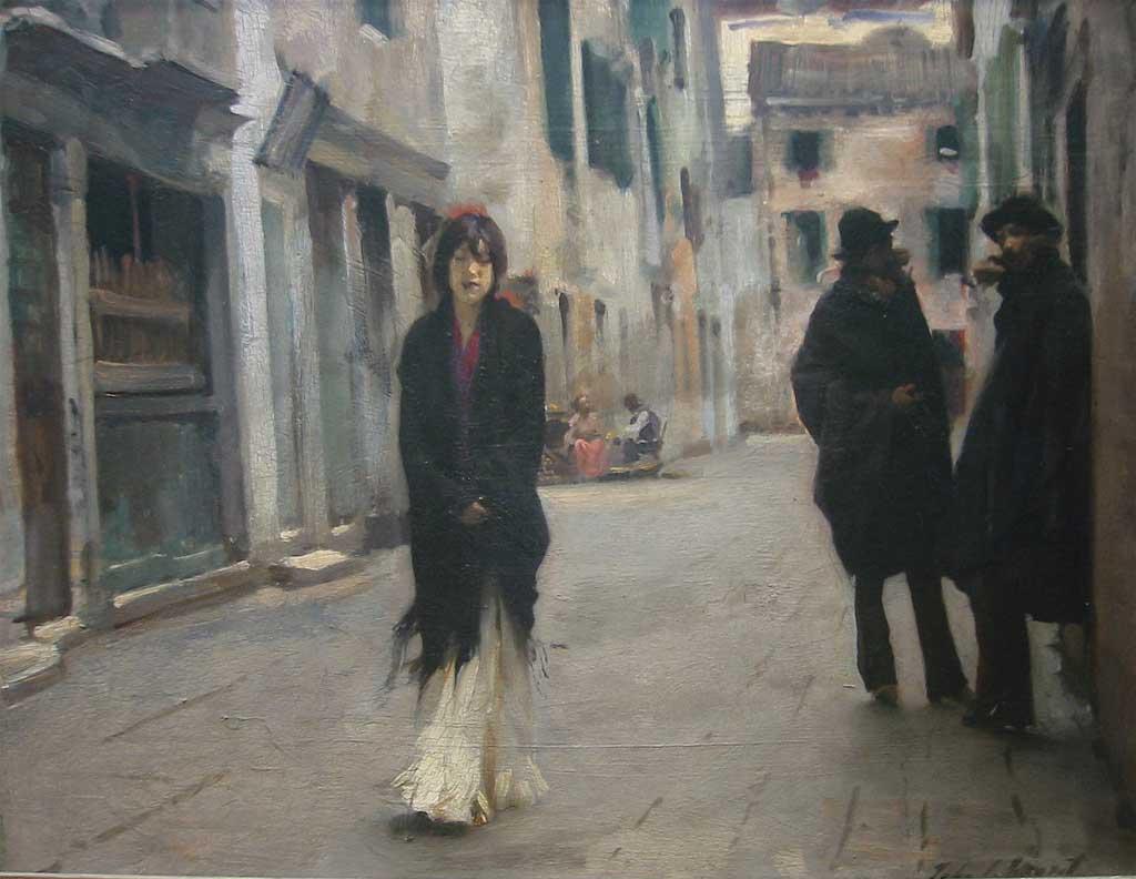 John Singer Sargent's Street in Venice